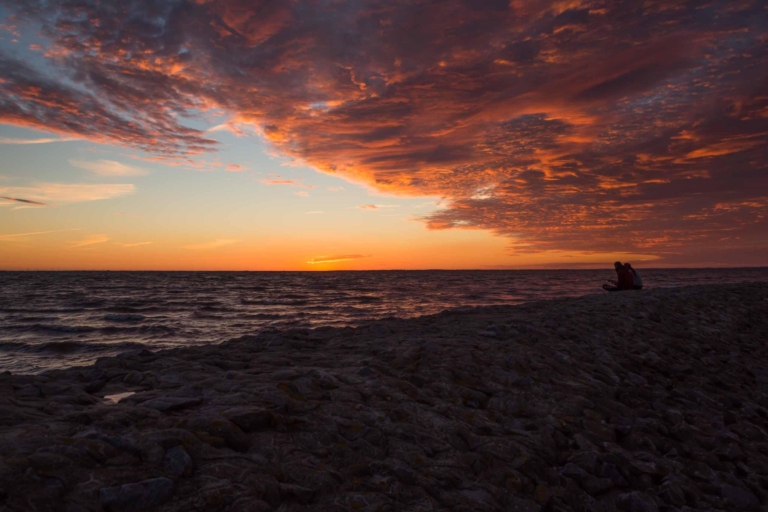 Sonnenuntergang am AKW