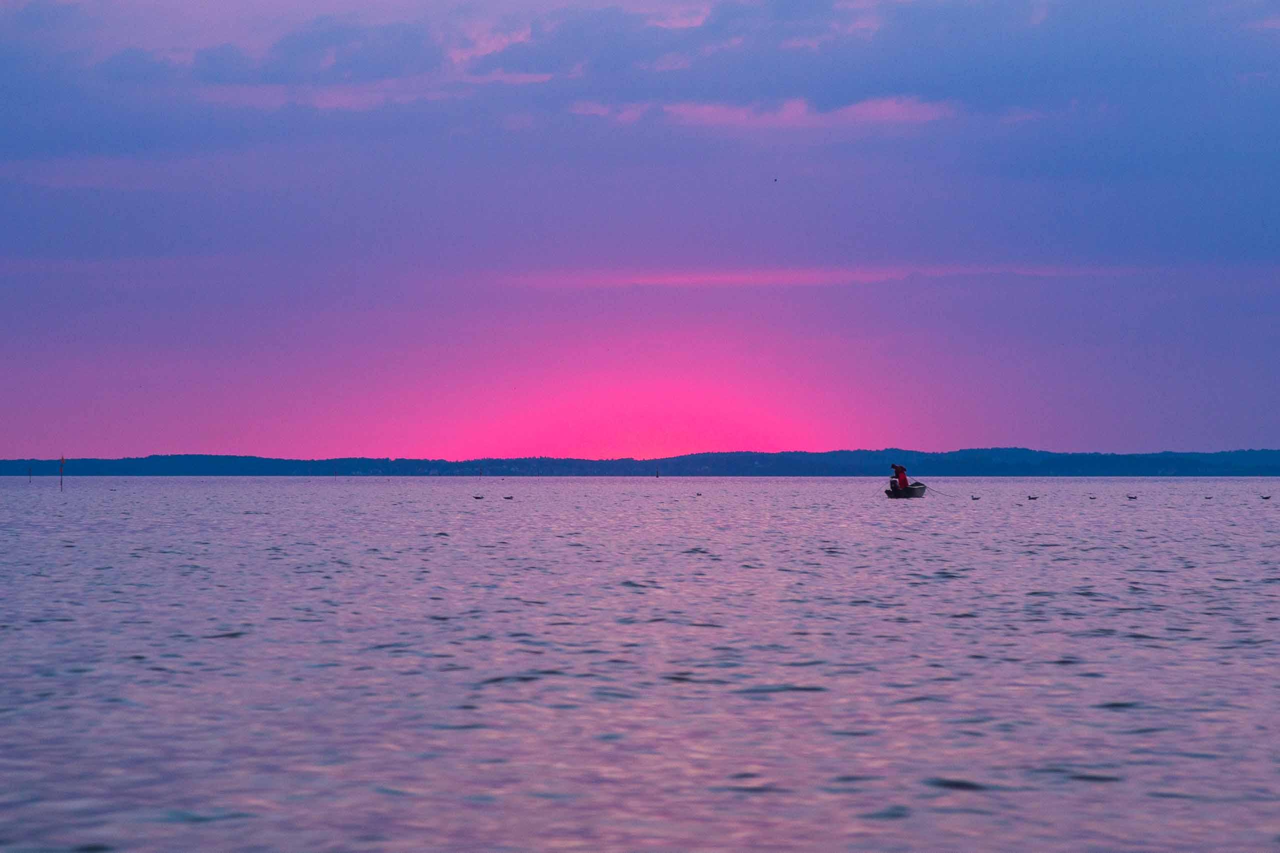 Sonnenaufgang am Achterwasser